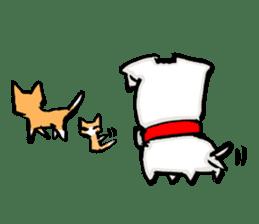 A sad dog sticker #1486309
