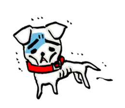 A sad dog sticker #1486310