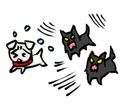 A sad dog sticker #1486312