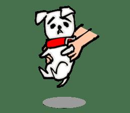 A sad dog sticker #1486314