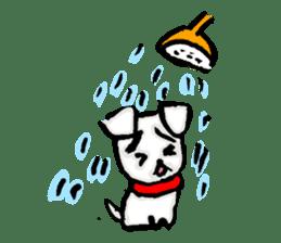 A sad dog sticker #1486316