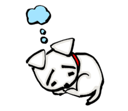 A sad dog sticker #1486318