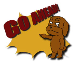 A cheeky toy poodle sticker #1486641