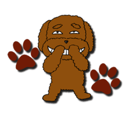 A cheeky toy poodle sticker #1486654