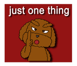 A cheeky toy poodle sticker #1486676