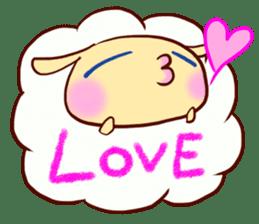 Pretty sheep sticker #1491571