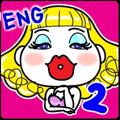 Hunny2~Happy stickers~English