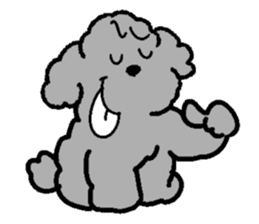 Nature of Toy Poodle sticker #1492796