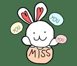 Dot Eyes Bunny sticker #1495004
