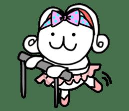 Dot Eyes Bunny sticker #1495011