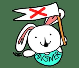 Dot Eyes Bunny sticker #1495016