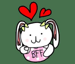 Dot Eyes Bunny sticker #1495017