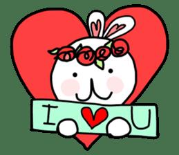 Dot Eyes Bunny sticker #1495020