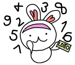 Dot Eyes Bunny sticker #1495023