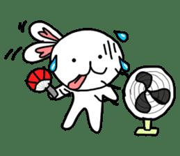 Dot Eyes Bunny sticker #1495025