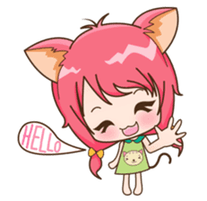 Kawaii Neko sticker #1495120