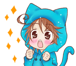 Boy cat ear hood sticker #1495529