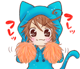 Boy cat ear hood sticker #1495530