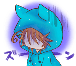 Boy cat ear hood sticker #1495542