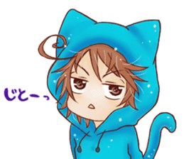 Boy cat ear hood sticker #1495545