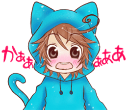 Boy cat ear hood sticker #1495551