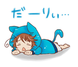 Boy cat ear hood sticker #1495558
