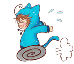 Boy cat ear hood sticker #1495559