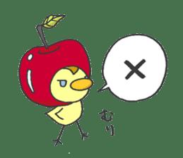 Kawaii apple. sticker #1497883