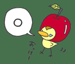 Kawaii apple. sticker #1497884