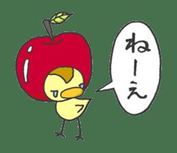 Kawaii apple. sticker #1497885