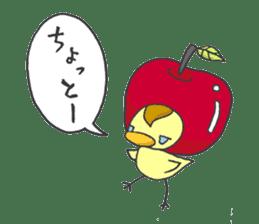 Kawaii apple. sticker #1497886