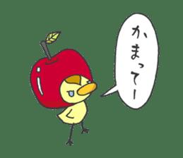 Kawaii apple. sticker #1497888
