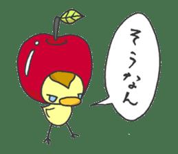 Kawaii apple. sticker #1497894