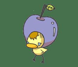 Kawaii apple. sticker #1497898