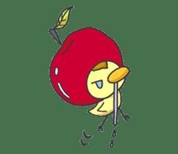 Kawaii apple. sticker #1497899