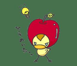 Kawaii apple. sticker #1497900