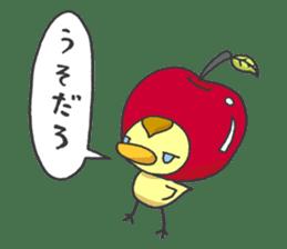 Kawaii apple. sticker #1497904