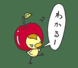 Kawaii apple. sticker #1497905