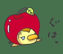Kawaii apple. sticker #1497906