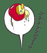 Kawaii apple. sticker #1497907