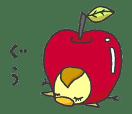 Kawaii apple. sticker #1497909