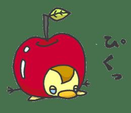Kawaii apple. sticker #1497911