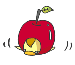 Kawaii apple. sticker #1497912