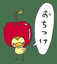 Kawaii apple. sticker #1497915