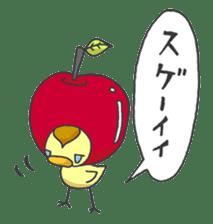 Kawaii apple. sticker #1497918