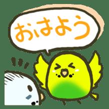 Relaxed parakeet sticker #1498520