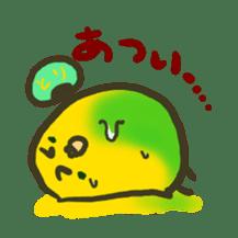 Relaxed parakeet sticker #1498524