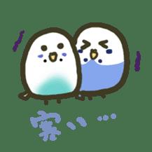 Relaxed parakeet sticker #1498525