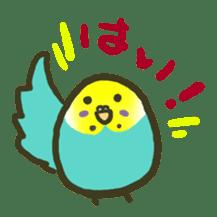 Relaxed parakeet sticker #1498526
