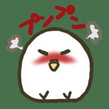 Relaxed parakeet sticker #1498538